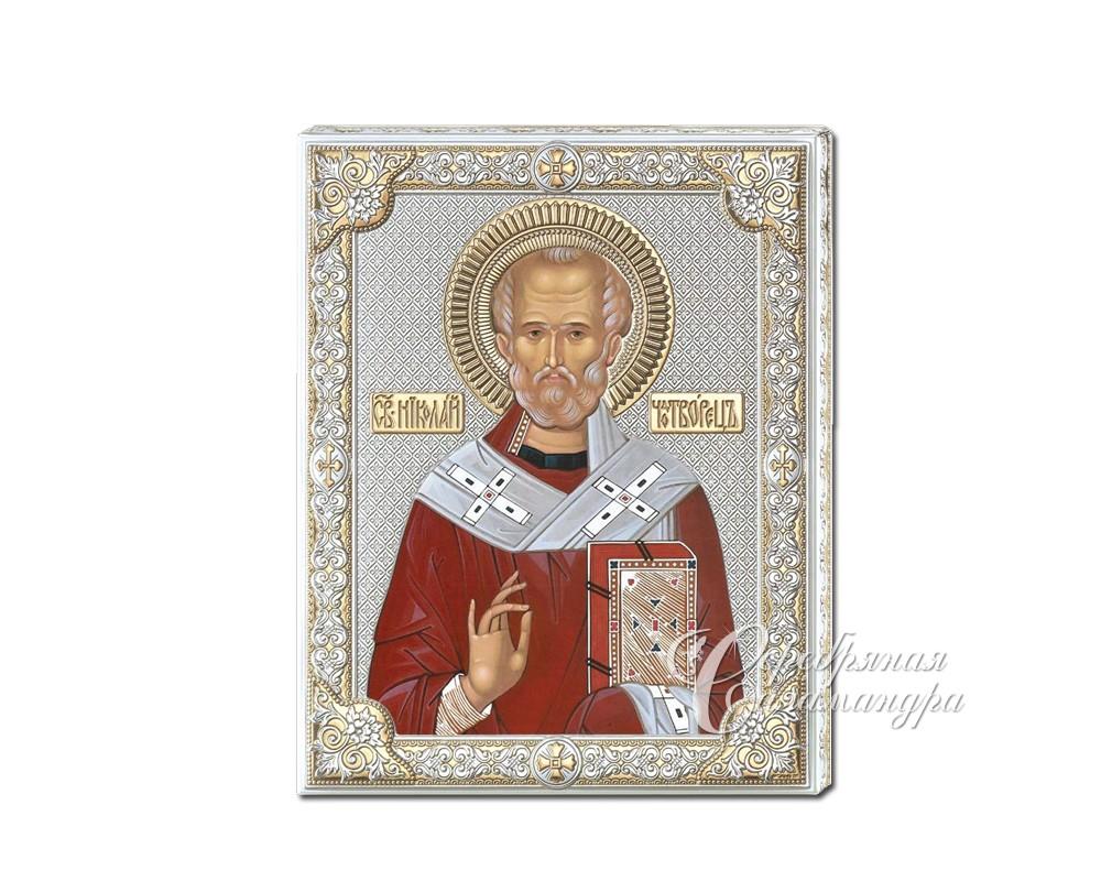 Серебряная Икона Валенти Valenti Широкий оклад