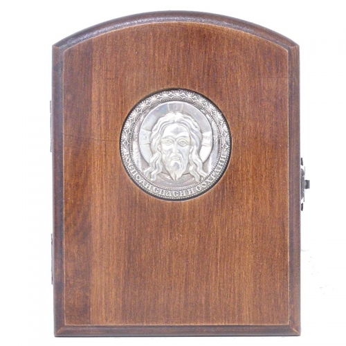 Серебряная икона Российская серебро Складень Серафим Саровский Хранитель