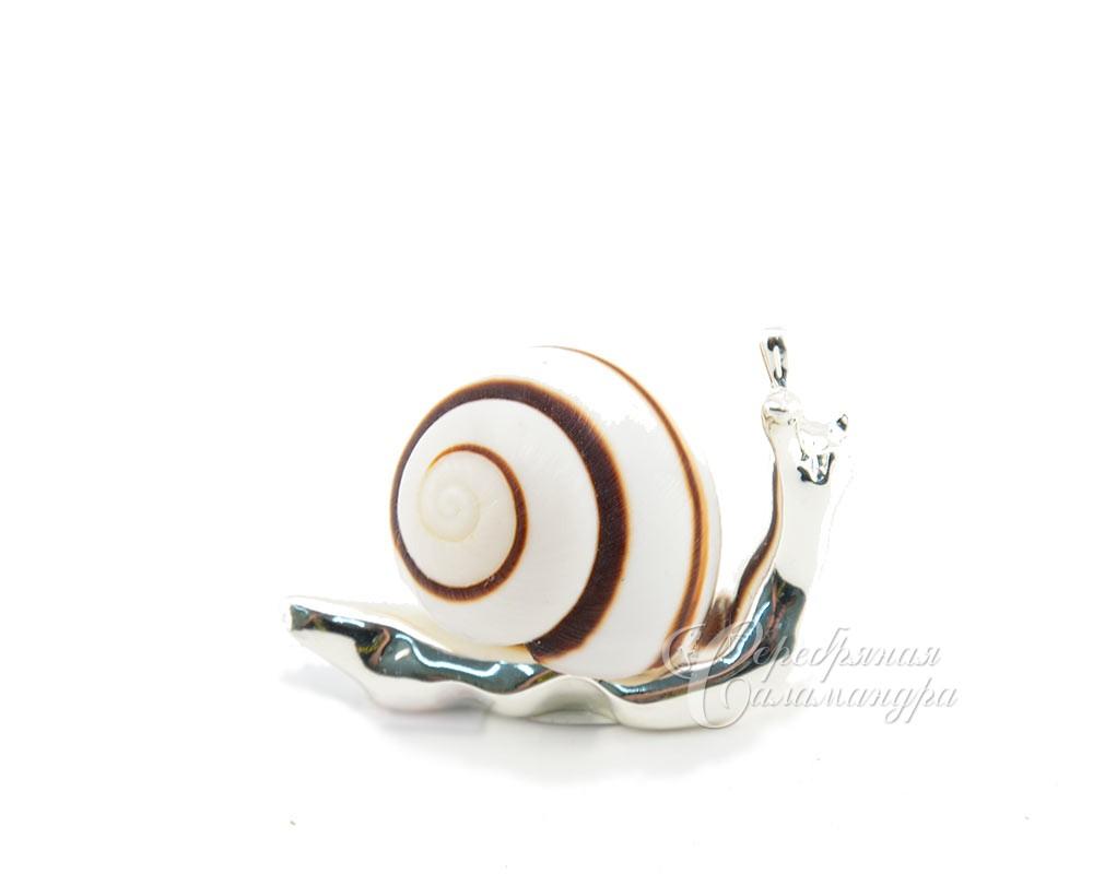 Серебряный сувенир подарок италия улитка