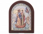 Серебряная Икона Валенти Valenti Петр и Феврония 84130