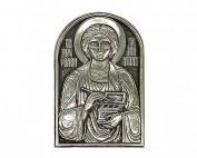 Серебряная икона Российская серебро Пантелеймон целитель