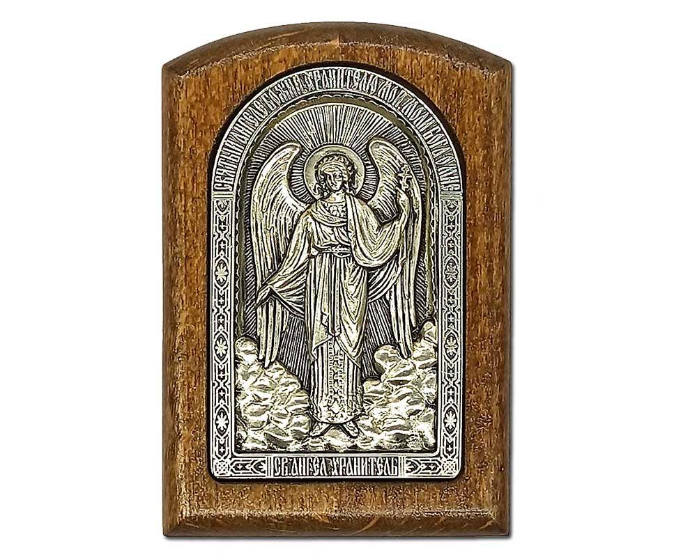 Серебряная икона Российская серебро Ангел Хранитель