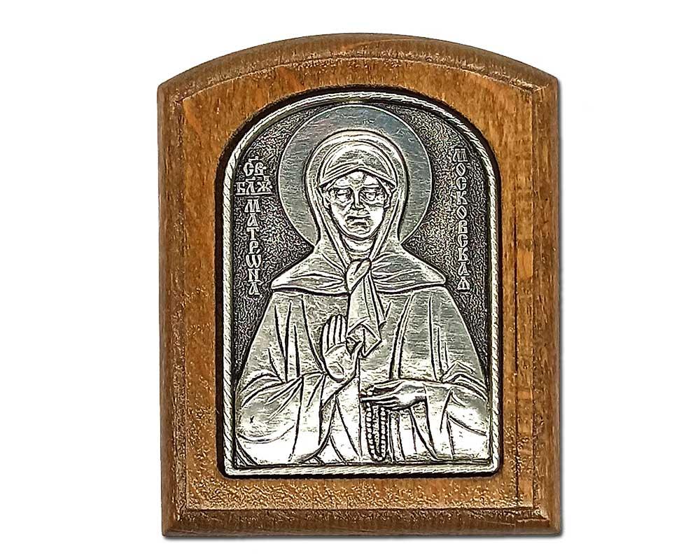 Серебряная икона Российская серебро Матрона