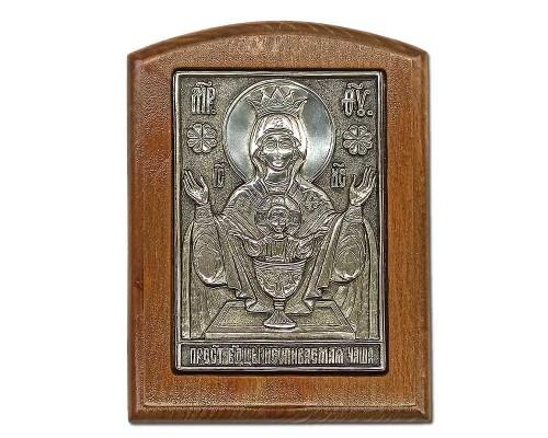 Серебряная икона Российская серебро Неупиваемая чаша икона от пьянства и наркомании