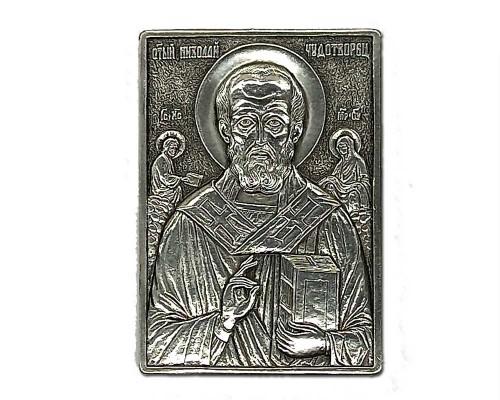 Серебряная икона Российская серебро Николай чудотворец