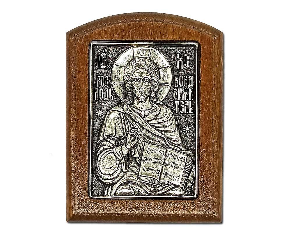 Серебряная икона Российская серебро Господь Вседержитель Иисус
