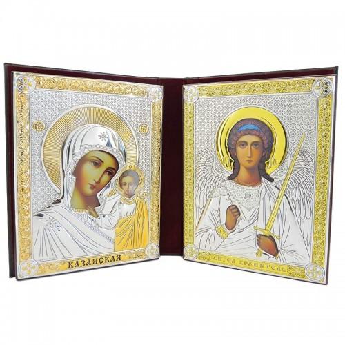 Купить Серебряный Складень Казанская Ангел Хранитель BELTRAMI
