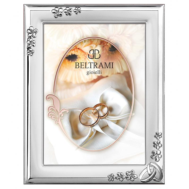 Серебряный сувенир подарок на свадьбу Серебряная фоторамка италия 1189/4L