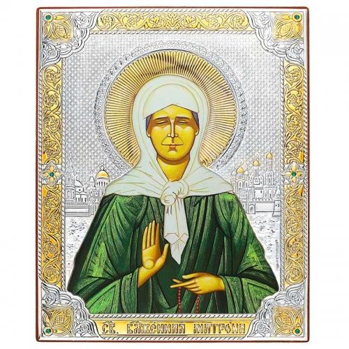 Серебряная Икона Beltrami Белтрами Матрона 6646