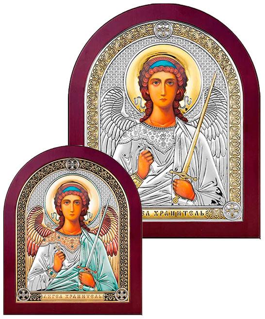 Серебряная Икона Ангел купить