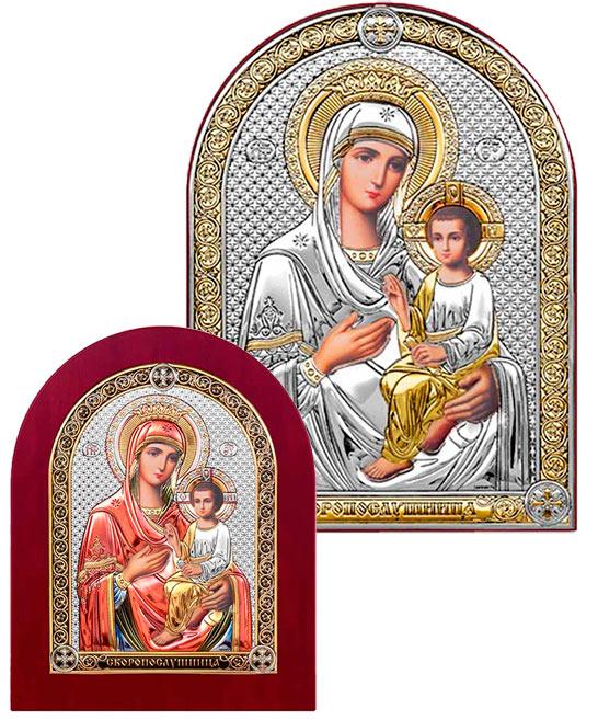 Серебряная Икона Казанская купить