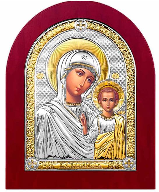 Икона серебряная с деревянной оправой
