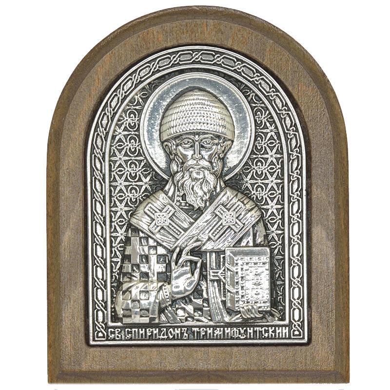 Серебряная икона Российская серебро Спиридон