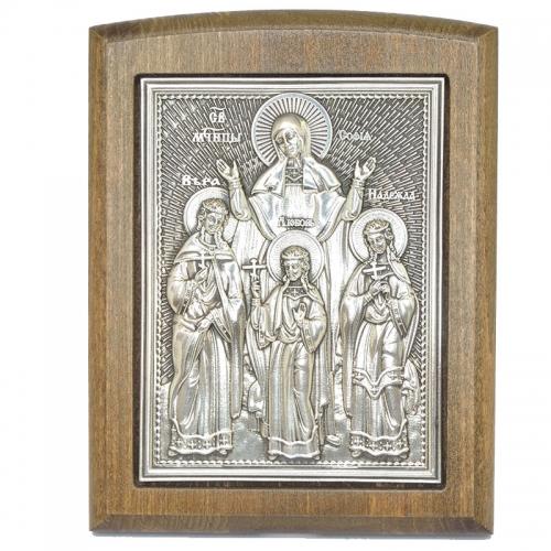 Серебряная икона Российская серебро Вера Надежда Любовь София