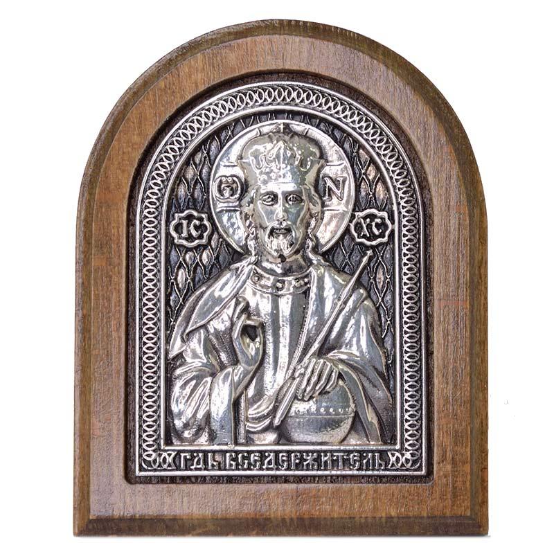 Серебряная икона Российская серебро Господь Иисус