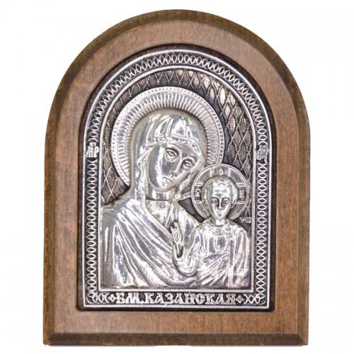 Серебряная икона Российская серебро Казанская