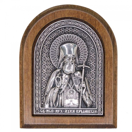 Серебряная икона Российская серебро Лука Крымский