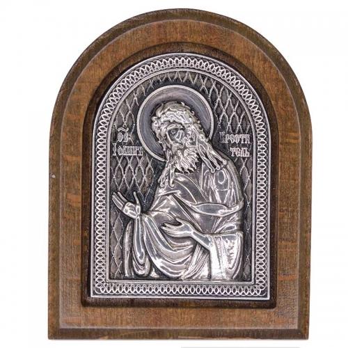 Серебряная икона Российская серебро Иоан