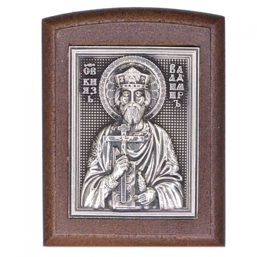 Серебряная икона Российская серебро Владимир