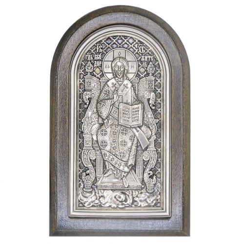 Серебряная икона Российская серебро Смоленская