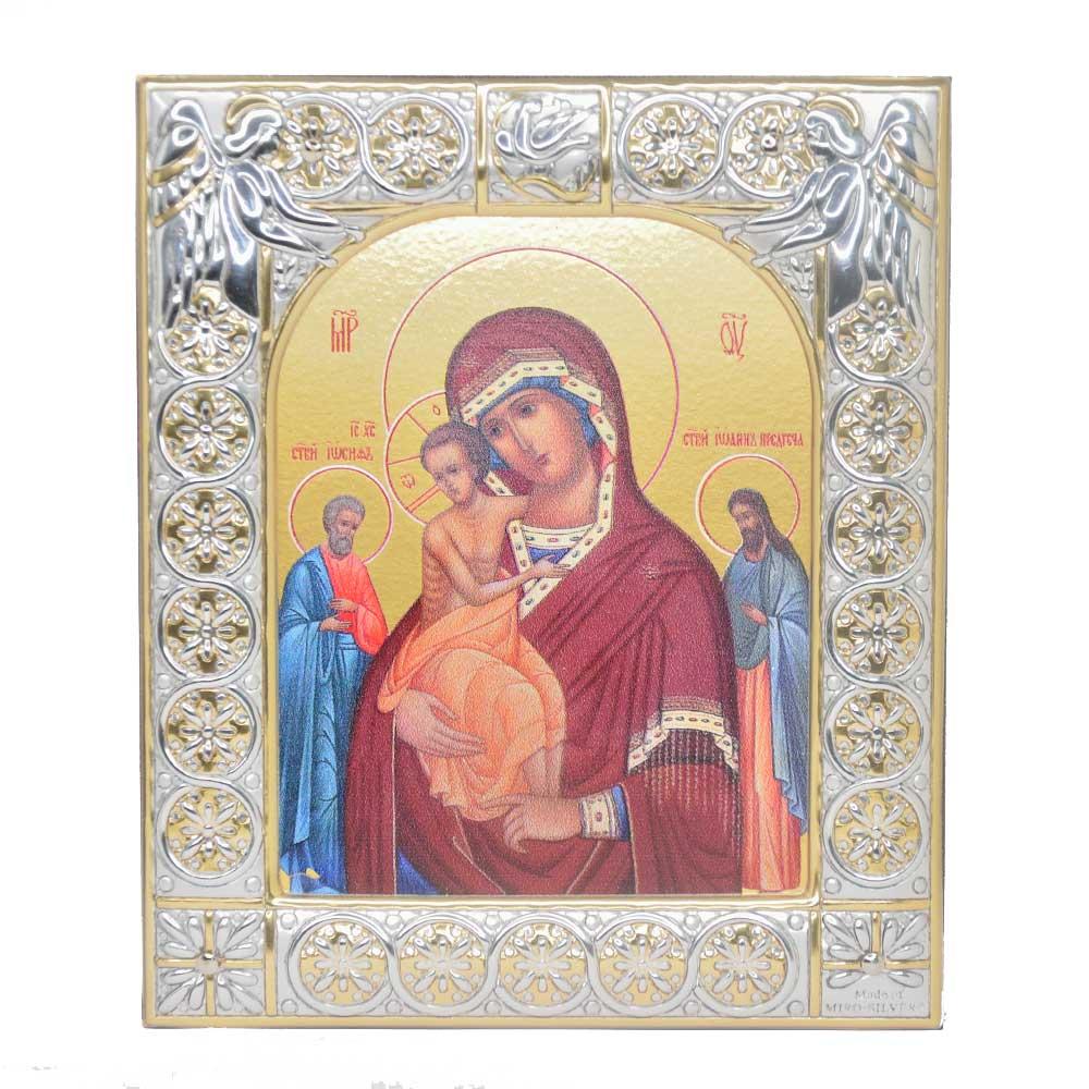 Купить Серебряную икону Даниловского монастыря Трех Радостей