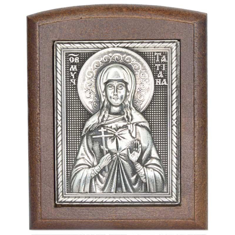 Серебряная икона Российская серебро Татьяна