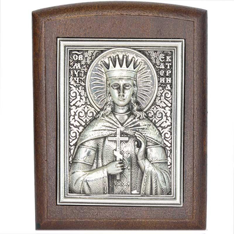 Серебряная икона Российская серебро Екатерина