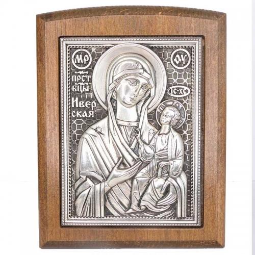 Серебряная икона Российская серебро Иверская