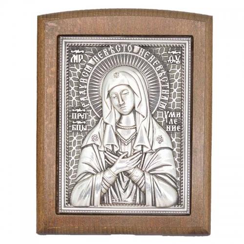 Серебряная икона Российская серебро Умиление