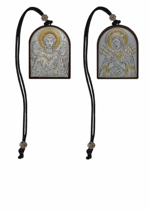 Купить Серебряный православный подарок подвес автоикона