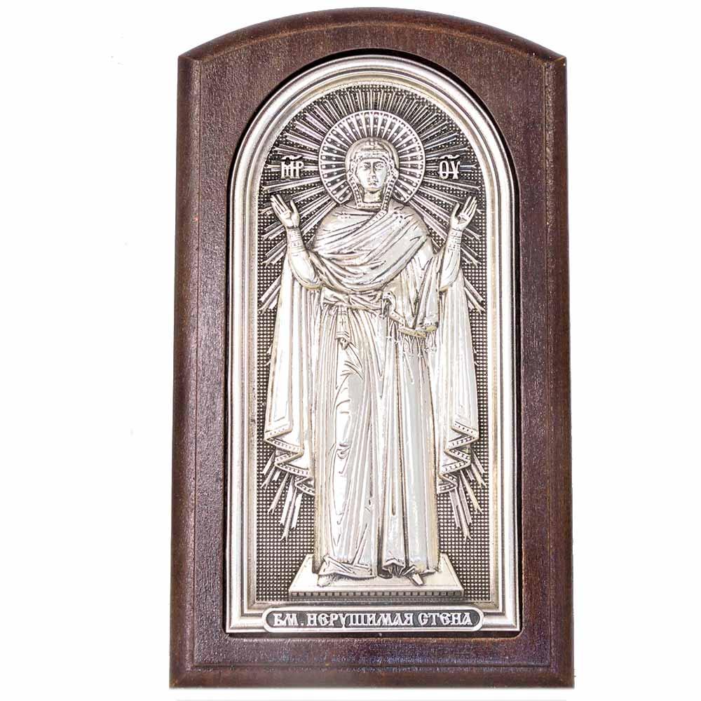 Серебряная икона Российская серебро Нерушимая стена