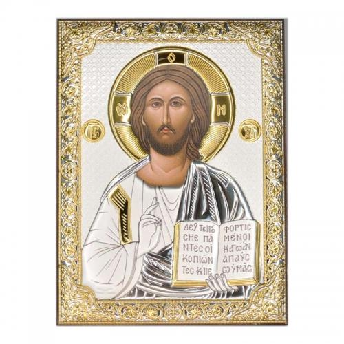 Серебряная икона Иисус